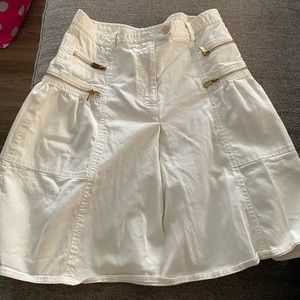 Moschino White Zipper Skirt